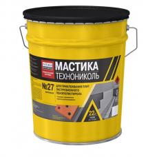 Битумная мастика №27 Приклеивающая (Технониколь) (22кг) 0,5-1кг/м2