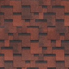 Гибкая черепица Шинглас, серия Финская, Аккорд цвет красный
