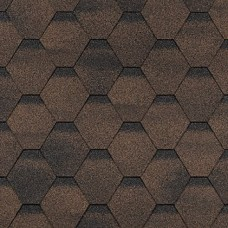 Гибкая черепица Шинглас, серия Финская, Соната, цвет коричневый