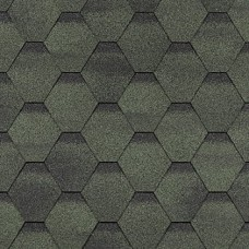 Гибкая черепица Шинглас, серия Финская, Соната, цвет зеленый