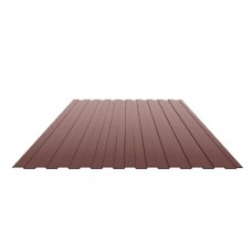 Профнастил лист С-20 цвет коричневый 1050х2000х0,35мм
