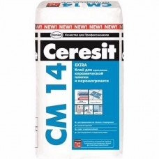 Плиточный клей Ceresit CM 14 для наружных и внутренних работ 25 кг